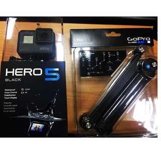 Go pro hero 5 black(附3用腳架以及記憶卡)(只用過2次,幾乎全新,沒下過水)