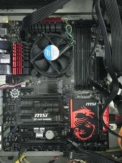 Intel i7 4770k + MSI Z87-G45 Gaming motherboard
