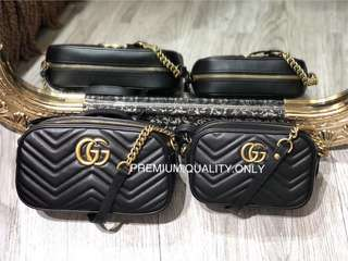 Gucci Marmont Camera Bag- black