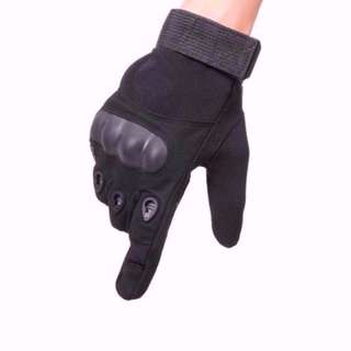 Black Pro Biker Full Finger Bicycle Motorbike Scooter Gym Gloves ( XL ONLY)