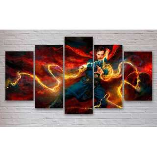 5 piece panel canvas frame dr strange