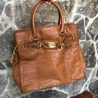 MK Large Satchel Tote Bag