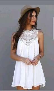 PNew Summer Women Casual Sleeveless White Short Mini Dress Cocktail Party Evening