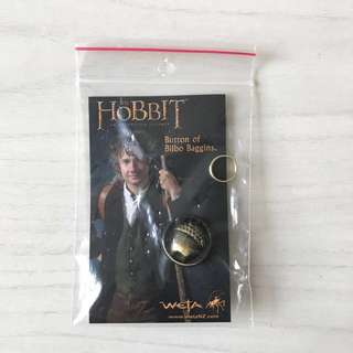 NEW LOTR bilbo baggins button collectible