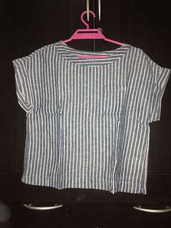 Stripes Cropped Tops