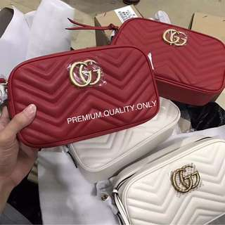 Gucci Marmont camera bag GG- red
