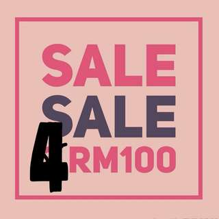 SALES! 4 for RM100