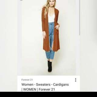 Forever 21 Long Ribbed Cardigan