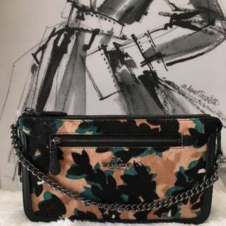 FIRE SALE DEAL! BNWT COACH NOLITA 24 HAIRCALF XXXL SIZE WRISTLET HANDBAG ( USUAL PRICE USD275)