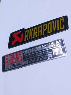 Exhaust Stickers AKRAPOVIC YOSHIMURA