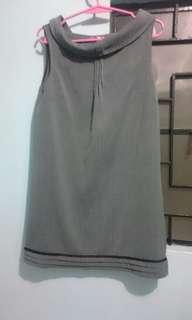 Gray Linen Dress - High quality