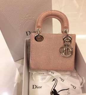 Lady Dior mini Lizard(pink)