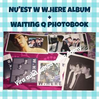 [TAKE ALL] NU'EST W.HERE ALBUM + WAITING Q PHOTOBOOK