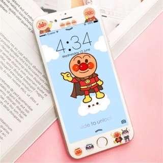 🚚 現貨 麵包超人iphone 7/8 全屏鋼化膜