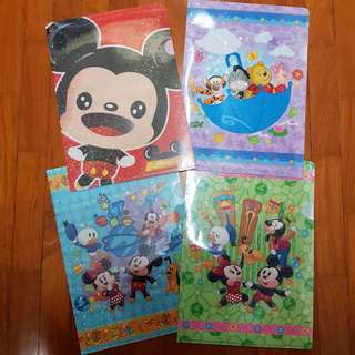 AUTHENTIC Hong Kong Disneyland Mickey Mouse & Winnie the Pooh Files