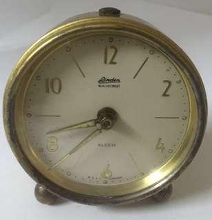 Vintage Linden BlackForrest West Germany Windup Alarm Clock