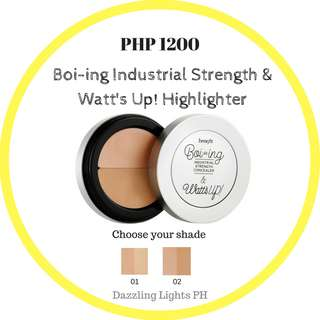 Boi-ing Industrial Strength Concealer and Watt's up! Highligter