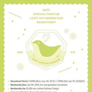 [Purchasing Service] GOT7 OFFICIAL FAN CLUB