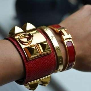 Hermes Bracelet , Premium Quality ( RED )