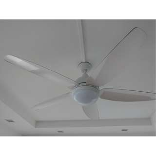 Samaire White Ceiling Fan Going Cheap (1 year old)