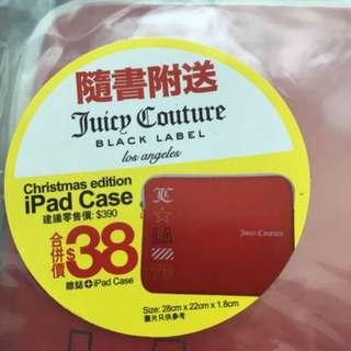 全新 Juicy Couture iPad Case 紅色袋/萬用袋