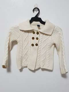 Baby Gap White Knitted Cardigan