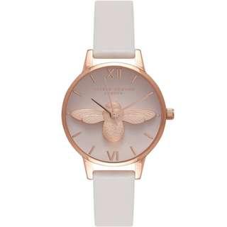 Olivia Burton 3D Bee Blush Dial Blush & Rose Gold Watch OB16AM85 30mm