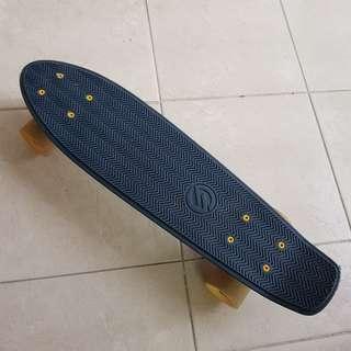 Oxelo Navy Blue & Mustard Penny Board/Cruiser