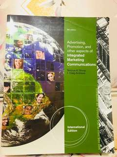 Advertising Promotion and Other Aspects of Integrated Marketing Communications by Terence A. Shimp