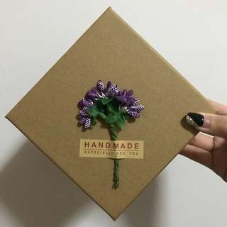 HandMade Pretty Square Box [ONE PIECE ONLY]