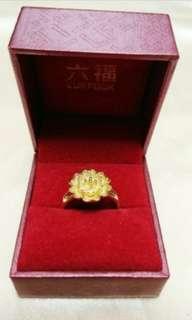 仿金戒指連六福盒 box and ring 結婚金器 襯豬牌 龍鳳鐲