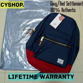🚚 Herschel Navy/RedSettlement Backpack