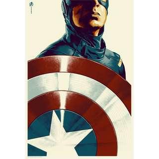 captain america abstract art prints