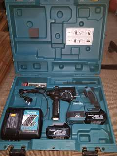 Makita brand new lithium battery driller machine with suction hepa filter