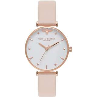 Olivia Burton Queen Bee T-Bar Nude Peach and Rose Gold Watch OB16AM95 30mm