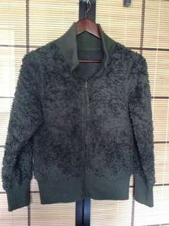 REVERSIBLE GRAY AND BLACK JACKET SMALL