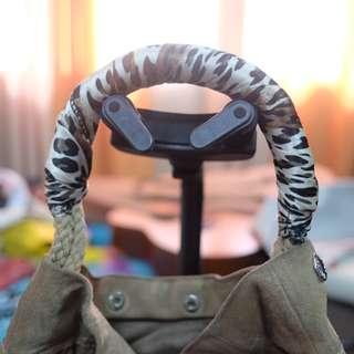 PRADA shoulder bag BEIGE Suede