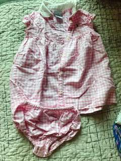Ralph Lauren Dress with matching bloomers/ diaper covers