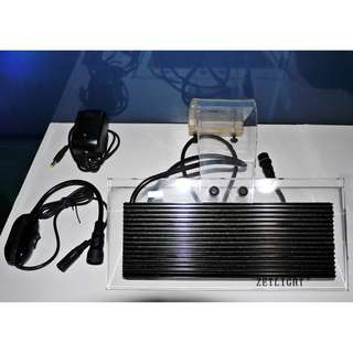 🚚 ZETLIGHT ZA1200 淡水專用 高亮度鋁合金--3色LED夾燈(16W)+專用LED燈光定時控制遙控器