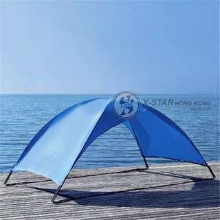 1634055 藍色雙人單層沙灘帳篷 遮陽帳篷  Beach tent
