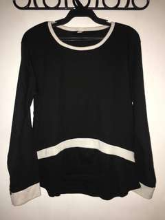 Black long sleeves with white lining