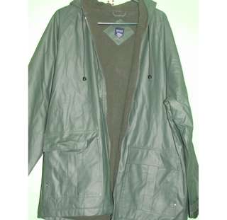Waterproof Basic Moss Green Jacket with Hood