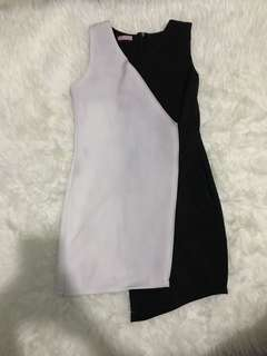 Black white dress size S