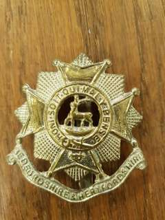 Genuine WW2 British Army Bedfordshire &  Hertfordshire Regiment slider badge