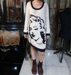 Betsy Johnson Knitted Tunic Marilyn Monroe collection
