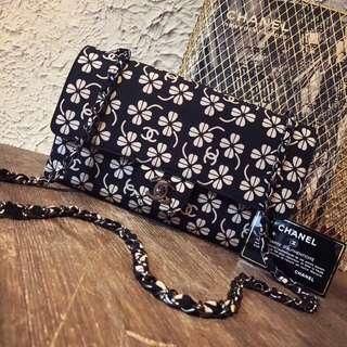 Chanel vintage 四葉草🍀緞面CF