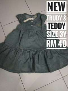 🆕Trudy Teddy Baby Dress