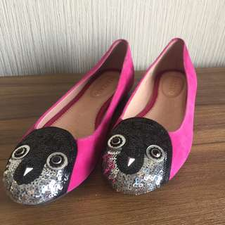 Staccato Flat Shoes Beads Penguin Suede