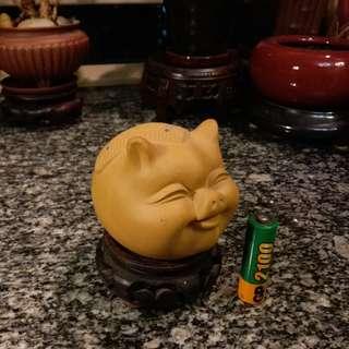 笑吟吟 陶瓷 豬仔茶寵