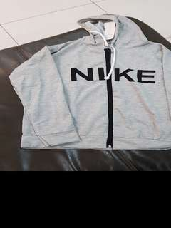 Nike Grey Zipped Sweater